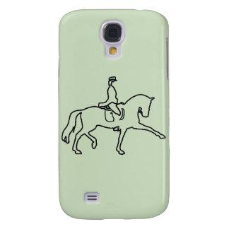 DRESSAGE HORSE AND RIDER - LINE ART DESIGN GALAXY S4 CASE