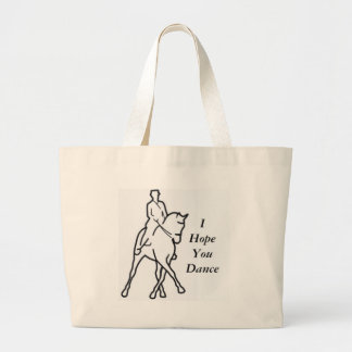 Dressage Horse and Rider - Line Art Half Pass Canvas Bags