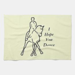 Dressage Horse and Rider - Line Art Half Pass Towel