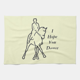 Dressage Horse and Rider - Line Art Half Pass Towel