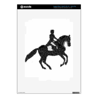 Dressage Horse and Rider Mosaic Design Decal For iPad 3