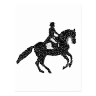 Dressage Horse and Rider Mosaic Design Postcard