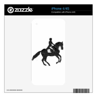 Dressage Horse and Rider Mosaic Design Skin For iPhone 4