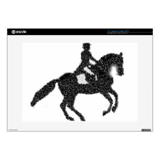 Dressage Horse and Rider Mosaic Design Skin For Laptop