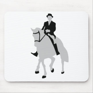 dressage horse and rider mouse pad