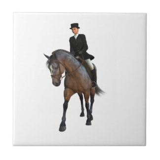 Dressage Horse and Rider Tile