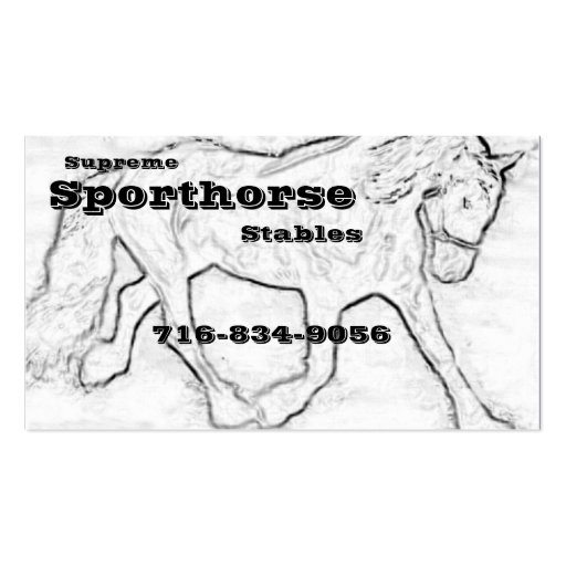 Dressage Horse Double-Sided Standard Business Cards (Pack Of 100)