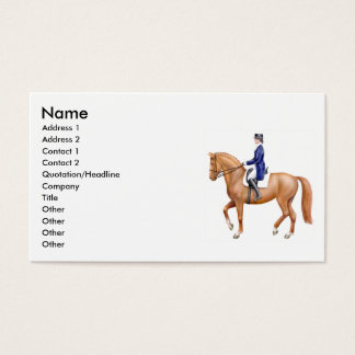 Dressage Horse Business Cards
