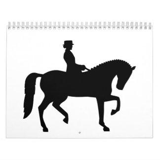 Dressage horse calendar
