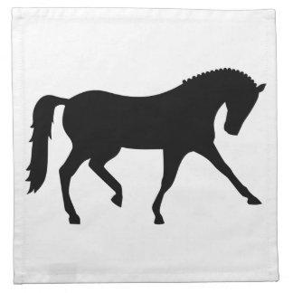 Dressage horse cloth napkin