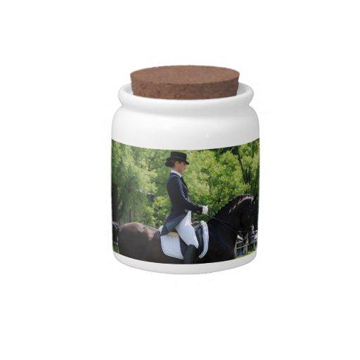 Dressage Horse Design Candy Jar