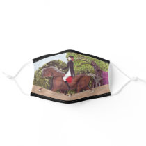 Dressage Horse English Style Riding Cloth Face Mask