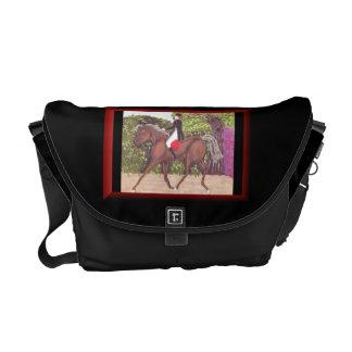 Dressage Horse English style riding messenger bag