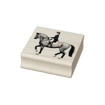 Dressage Horse Equestrian Art Stamp