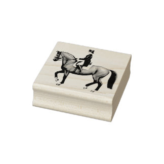 Dressage Horse Equestrian Art Stamp