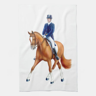 Dressage Horse Equestrian Kitchen Towel