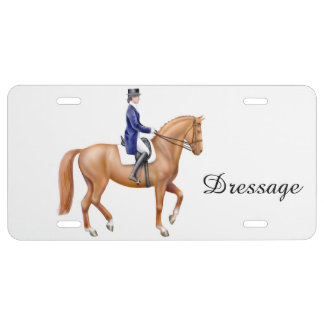 Dressage Horse Equestrian License Plate Cover