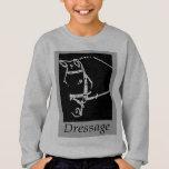 DRESSAGE HORSE - EQUESTRIAN LINE ART DESIGN SWEATSHIRT