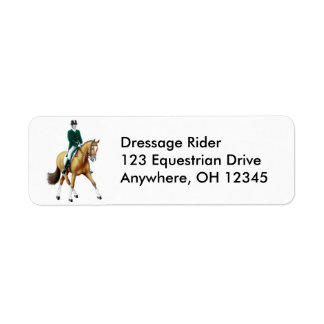 Dressage Horse Half Pass Label