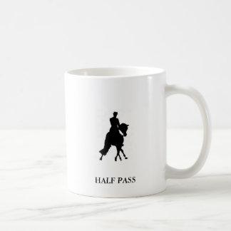 DRESSAGE HORSE HALF PASS MUG