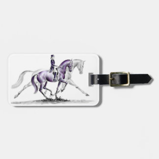 Dressage Horse in Trot Piaffe Bag Tag