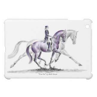 Dressage Horse in Trot Piaffe Cover For The iPad Mini
