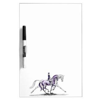 Dressage Horse in Trot Piaffe Dry Erase Board