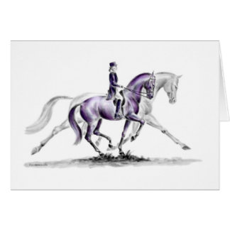 Dressage Horse in Trot Piaffe Greeting Card