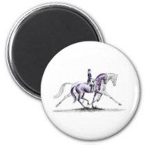 Dressage Horse in Trot Piaffe Magnet