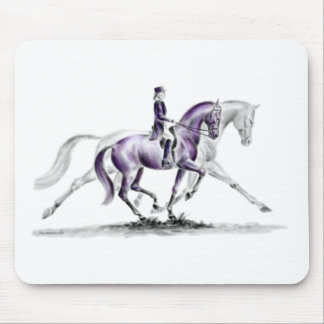 Dressage Horse in Trot Piaffe Mouse Pad
