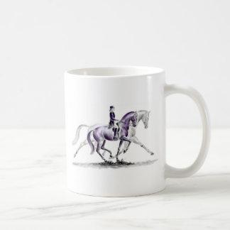 Dressage Horse in Trot Piaffe Coffee Mug