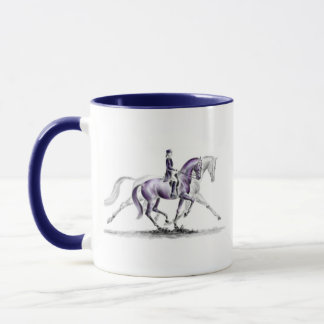 Dressage Horse in Trot Piaffe Mug