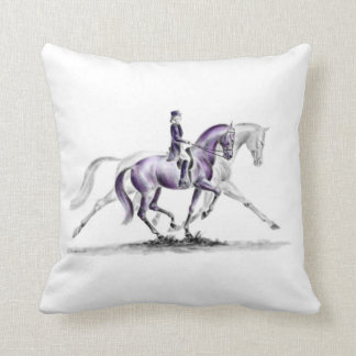 Dressage Horse in Trot Piaffe Pillows