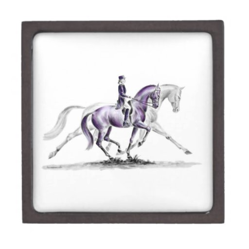 Dressage Horse in Trot Piaffe Premium Jewelry Boxes