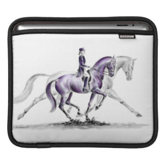 Dressage Horse in Trot Piaffe Sleeve For iPads