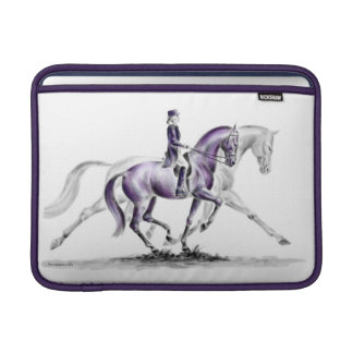 Dressage Horse in Trot Piaffe Sleeves For MacBook Air