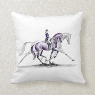 Dressage Horse in Trot Piaffe Throw Pillow