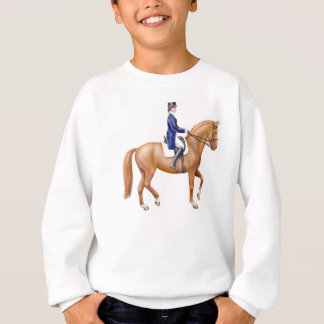 Dressage Horse Kids Sweatshirt