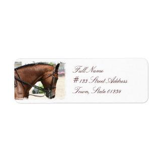Dressage Horse Mailing Label