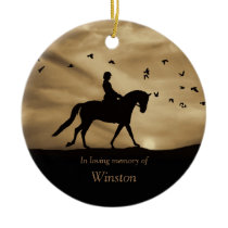 Dressage Horse Memorial Tribute, Dressage Sympathy Ceramic Ornament