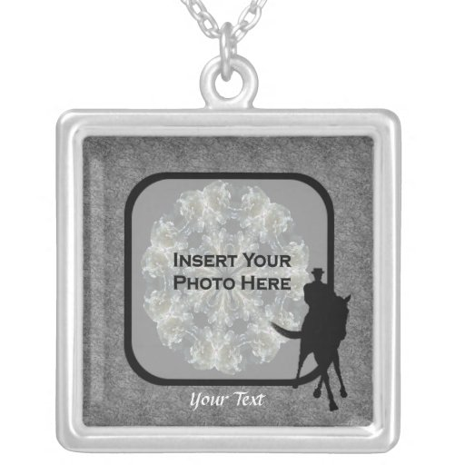 Dressage Horse Photo Template Personalized Necklac Personalized Necklace