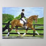 Dressage Horse Portrait II Poster