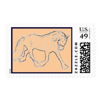 dressage horse postage stamps