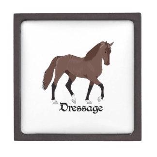DRESSAGE HORSE PREMIUM KEEPSAKE BOX