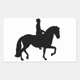 Dressage Horse Rectangular Sticker