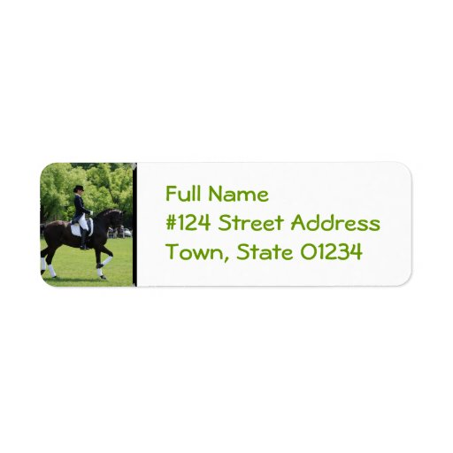 Dressage Horse Return Address Label