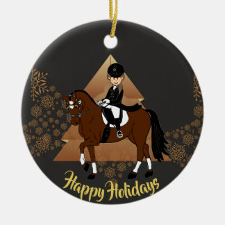 Dressage Horse Rider ADD PHOTO and Name Decoration