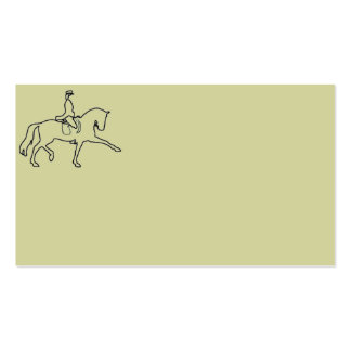 Dressage Horse Rider Business Cards