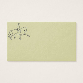 Dressage Horse & Rider Business Cards