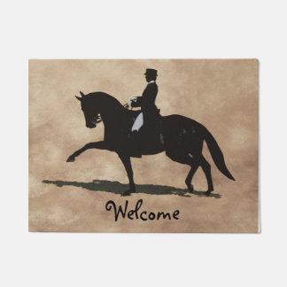 Dressage Horse & Rider Doormat